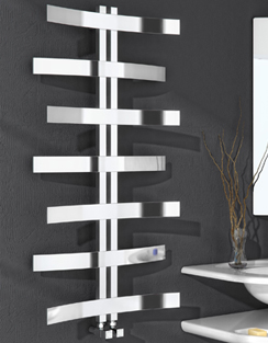 More info Reina Lioni Polished Stainless Steel Designer Radiator 600 x 1200mm