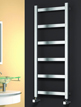 Reina Mina Satin Stainless Steel Designer Radiator 480 x 750mm