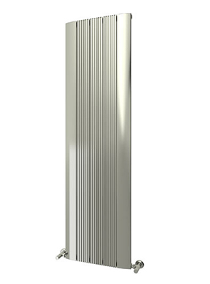 Reina Dalia Polished Aluminium Vertical Radiator 375 x 1800mm