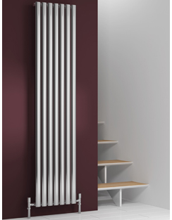 Related Reina Nerox Single Polished Vertical Stainless Steel Radiator 413 x 1800mm