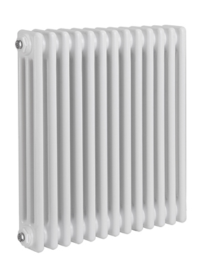 Reina Colona 3 Column White Horizontal Radiator 605 x 500mm