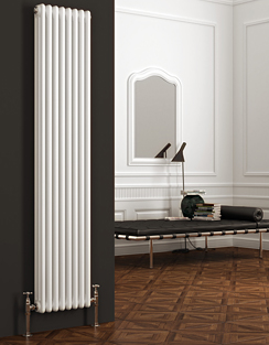 More info Reina Colona 380 x 1800mm 2 Column Vertical Radiator White