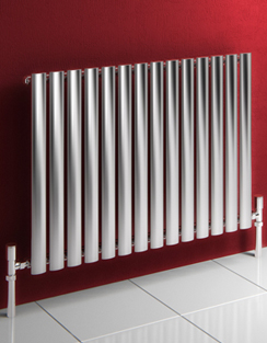 More info Reina Nerox Single Brushed Horizontal Stainless Steel Radiator 413 x 600mm