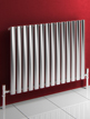Reina Nerox Single Brushed Horizontal Stainless Steel Radiator 826 x 600mm