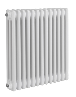 More info Reina Colona 3 Column White Horizontal Radiator 605 x 600mm