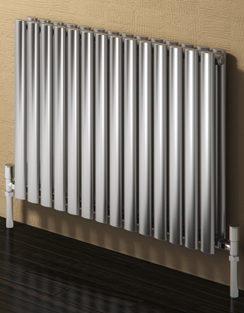 More info Reina Nerox Double Brushed Horizontal Stainless Steel Radiator 413 x 600mm