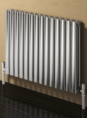 Reina Nerox Double Brushed Horizontal Stainless Steel Radiator 1180 x 600mm