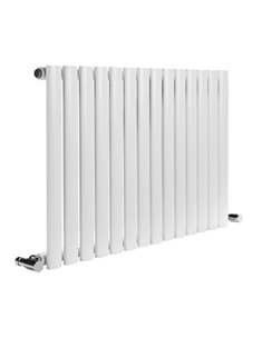 More info Reina Neva Horizontal White Single Panel Designer Radiator 1180 x 550mm