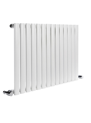 Reina Neva Horizontal White Single Panel Designer Radiator 590 x 550mm