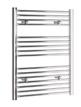 Tivolis Straight Chrome Heated Towel Rail 400 x 800mm