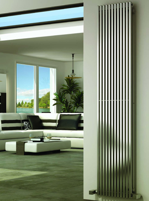 Reina Odin Satin Stainless Steel Designer Radiator 470 x 1800mm