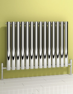 More info Reina Nerox Single Polished Horizontal Stainless Steel Radiator 590 x 600mm