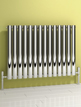Reina Nerox Single Polished Horizontal Stainless Steel Radiator 826 x 600mm
