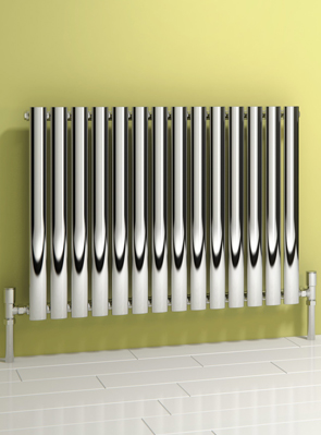 Reina Nerox Single Polished Horizontal Stainless Steel Radiator 1003 x 600mm