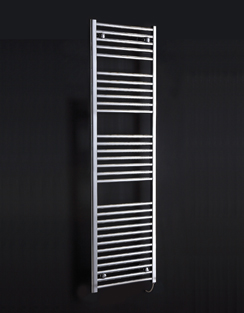 More info Phoenix Flavia Straight 400 x 800mm White Electric Towel Rail