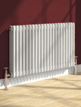 Reina Colona 2 Column Horizontal Radiator White 605 x 600mm