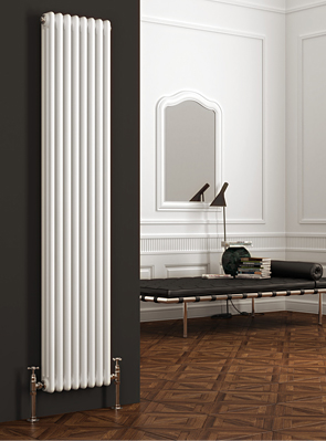 Reina Colona 200 x 1800mm 2 Column Vertical Radiator White