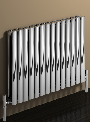 Reina Nerox Double Polished Horizontal Stainless Steel Radiator 413 x 600mm