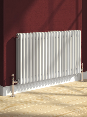 Reina Colona 2 Column Horizontal Radiator White 785 x 600mm