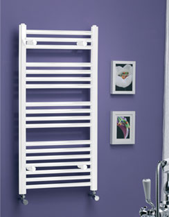 More info MHS Scarletta Straight Towel Rail 400 x 750mm White Dual Fuel