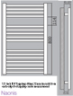 Biasi Naonis 600 x 800mm White Straight Heated Towel Rail