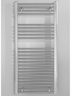 Biasi Naonis 400 x 800mm Chrome Straight Heated Towel Rail