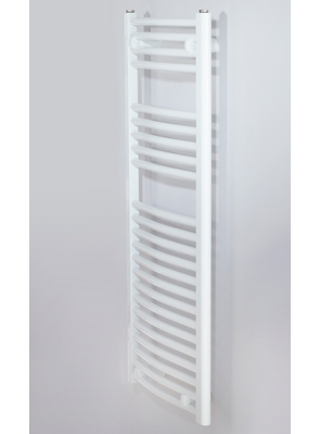 Biasi Naonis 600 x 800mm White Curved Heated Towel Rail