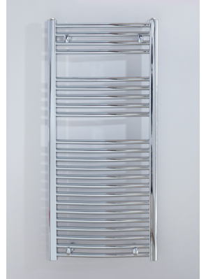 Biasi Naonis 600 x 1100mm Chrome Curved Heated Towel Rail