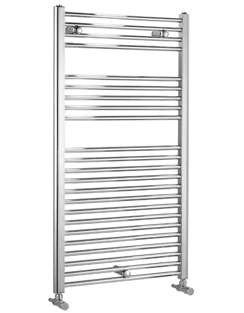 Related Biasi Dolomite 400 x 800mm Chrome Straight Heated Towel Rail