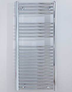 Related Biasi Naonis 600 x 1100mm Chrome Curved Heated Towel Rail
