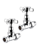 Biasi Cross Head Straight Chrome Radiator Valves