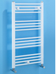 Biasi Dolomite 400 x 800mm White Straight Heated Towel Rail