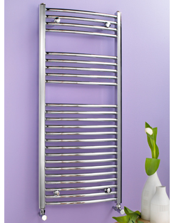 Related Biasi Dolomite 600 x 1600mm Chrome Curved Heated Towel Rail