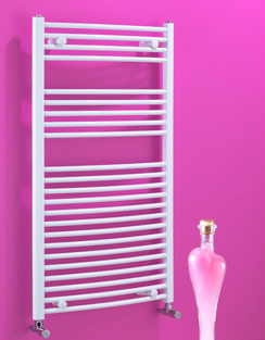 Related Biasi Dolomite 600 x 800mm White Curved Heated Towel Rail