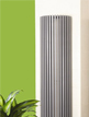 Apollo Bassano Vertical 395 x 1800mm Half Round White Radiator
