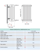 Apollo Roma 4 Column 500 x 750mm Horizontal Steel Radiator