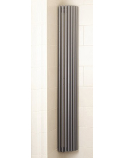 More info Apollo Bassano Vertical 325 x 1800mm Quarter Round White Radiator