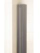 Apollo Bassano Vertical 325 x 1800mm Quarter Round White Radiator