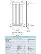 Apollo Ferrara 300 x 1800mm Vertical Stainless Steel Radiator