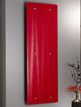 Apollo Ferrara Red Glass 500 x 1420mm Stainless Steel Vertical Radiator