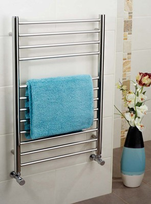 Apollo Garda Polished Stainless Steel Towel Warmer 400 x 1200mm