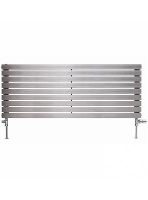 Apollo Ferrara 1200 x 400mm Horizontal Stainless Steel Radiator